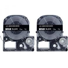 Absonik Penggantian Kaset Tape untuk EPSON LW-300 LW-400 LW-600P LW-700 LC-4BWV9 (1/2