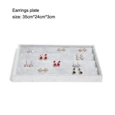 Abusun Beludru Berkualitas Tinggi Baki Perhiasan Perhiasan Tampilan Penahan Anting Cincin Gelang Giok Kotak Kotak Perhiasan Penyimpanan Organizer-Internasional