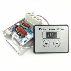 AC 220 V 10000 W 80A Kontrol Digital SCR Regulator Tegangan Elektronik 10-220 V Kontrol Kecepatan Dimmer Thermostat + Digital Meter (6.5) -Intl