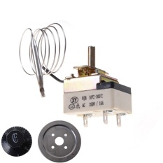 AC 220 V 16A Thermostat Suhu Control Switch untuk Oven Listrik 50-300C Dial Allwin-Internasional