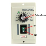 Kualitas Ac 220V Speed Knob Control Voltage Controller For 400W Motor Output Dc 220V Intl Oem