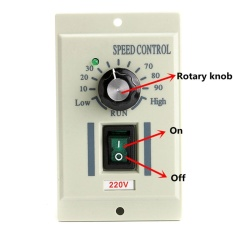 Toko Ac 220V Speed Knob Control Voltage Controller For 400W Motor Output Dc 220V Intl Oem