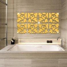 AC DIY 3D Akrilik Modern Cermin Stiker Dekorasi Rumah Stiker Dinding Mural Dapat Dilepas-Internasional
