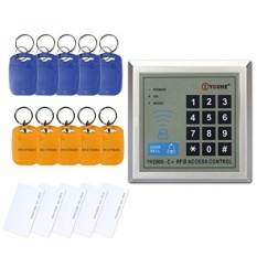 Access Control Keypad, ZOTER RFID Proximity ID Reader 125KHz for Electric Door Lock +5 Cards +10 Key Rings - intl