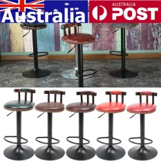 Adjustable Retro Logam Kerajinan Bar Stool Furniture Swivel Cafe Counter Kursi 250LB Brown Warna Merah Anggur-Internasional