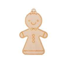Rp 47.000. Iklan 2 Pcs Pohon Natal Gantungan Kayu Gingerbread Man Ornaments ...