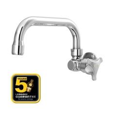 Aer Kran Dapur - Keran Air Kuningan / Brass Kitchen Faucet - Wall Mounted Hov 03c By Aer Sanitary Indonesia.
