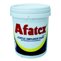 Afatex Cat Tembok Super Interior And Exterior Paint 1 Pail - 23 Kg - Hitam