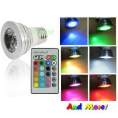 Ageless Bohlam LED RGB dengan Remot Kontrol - Silver