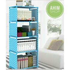 Harga Ahim Shop Rak Portable Serbaguna 5 Susun 4 Ruang Untuk Buku Barang Rumah Tangga Multifungsi Motif Polkadot Biru Rak Buku Ori