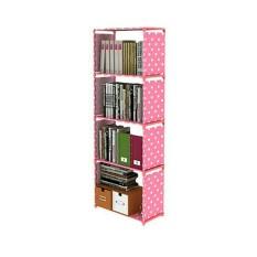 Ahim Shop – Rak Portable Serbaguna 5 Susun/4 Ruang untuk Buku/Barang Rumah