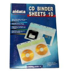 Aidata isi ulang/lembaran 10 Premium CD / DVD / Media Binder A4