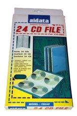 Aidata Tempat simpan 24 CD/DVD File Biru