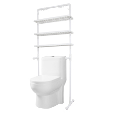 AIUEO Bathroom Multifunction Shelf - Rak Penyimpanan Kamar Mandi 3 Susun