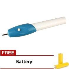 AIUEO Engrave It Electric Carve Tool Pen - Alat Ukir Elektrik - Gratis Baterai