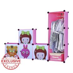 Harga Aiueo Lemari Pakaian Motif Anak Anak 4 Pintu 3 Kotak 1 Gantungan Type 7 7 Pink Origin