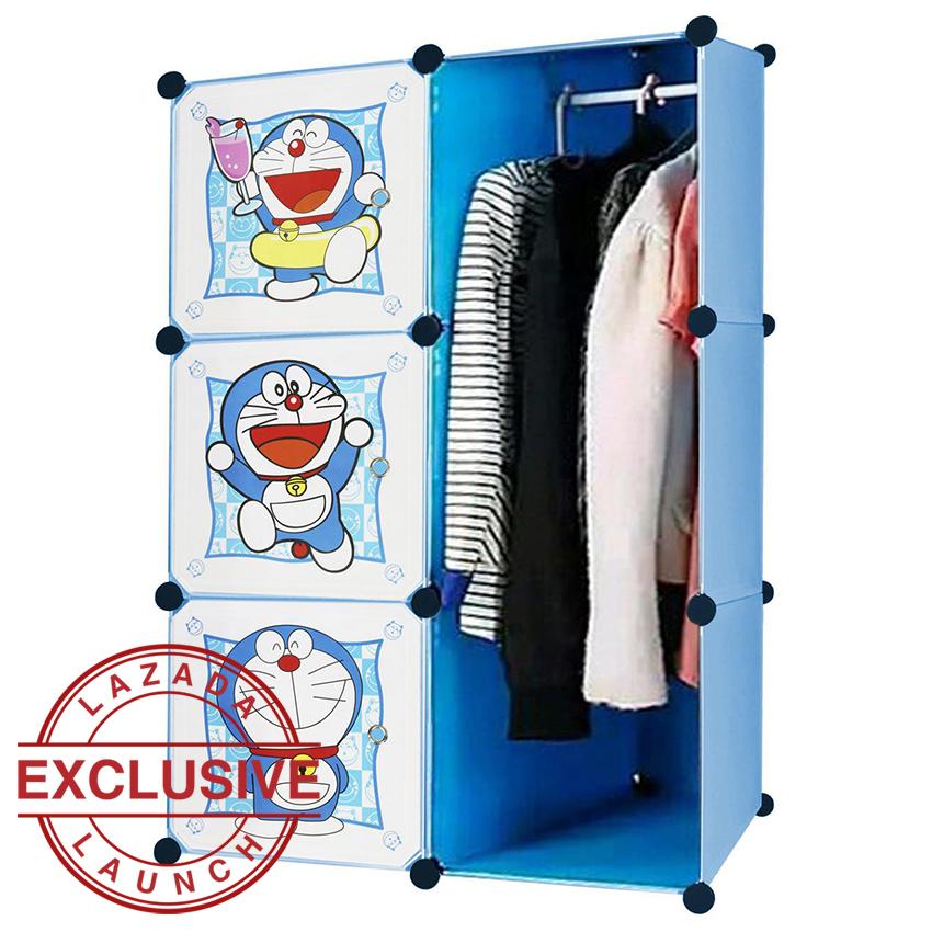 Pencari Harga Angel Lemari Pakaian Motif Doraemon 3 Pintu 3 Kotak 1 Gantungan Type 6.28 -