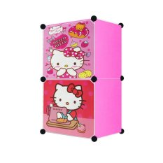 Angel Lemari Pakaian Motif Hello Kitty 2 Pintu Type 2.1 - Pink
