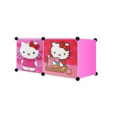Angel Lemari Pakaian Motif Hello Kitty 2 Pintu Type 2.2 - Pink