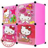 Harga Termurah Aiueo Lemari Pakaian Motif Hello Kitty 4 Pintu Type 4 1 Pink