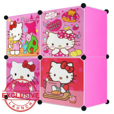 Spesifikasi Aiueo Lemari Pakaian Motif Hello Kitty 4 Pintu Type 4 1 Pink Dan Harganya