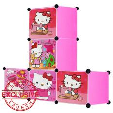 AIUEO Lemari Pakaian Motif Hello Kitty 5 Pintu Type 5.15 - Pink