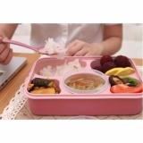 Beli Aiueo Lunch Box Set Bento Nagoya Free Sendok Pink Terbuat Dari Wheat Cicilan