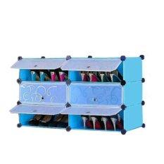 Jual Aiueo Rak Sepatu 6 Pintu Type 6 1 Biru Di Bawah Harga