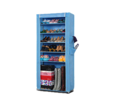 Aiueo Shoe Rack 6 Layers With Dust Cover Rak Sepatu Sky Blue Aiueo Diskon