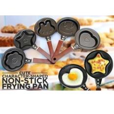 Aiueo Teflon Mini Non Stick Frying Fry Pan - Wajan Masak Karakter Anti Lengket Motif Random