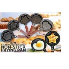 Aiueo Teflon Mini Non Stick Frying Fry Pan - Wajan Masak Karakter Anti Lengket - Random 1 Pcs