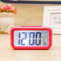 Jual Ajkoy Digital Alarm Morning Clock Backlight Electric Lcd Display Temperature Display Nightlight And Snooze Clock Intl Tiongkok