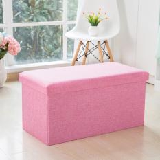 Jual Ajusen Linen Folding Rect Ottoman Penyimpanan Bangku Kotak Footrest Furniture 49 30 30 Cm Intl Murah
