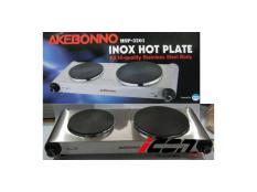 Akebonno Inox Double Hot Plate MSP-3201 Kompor Listrik Dua Tungku