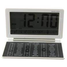 Jam Alarm Digital Clock dengan LCD Display Kalender Thermometer Fungsi Waktu Pengiriman Gratis Hitam-Intl