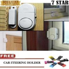 Alarm Pintu Rumah Canggih / Sensor Anti Maling SUPER CANGGIH 1Pcs + FREE Car Steering Wheel Phone Holder 1Pcs