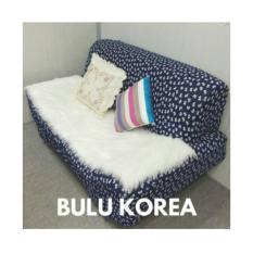 Alas Sofa Bulu Korea putih