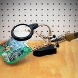 Beli Alat Bantu Reparasi Kaca Pembesar Penjepit Dudukan Solder Dilengkapi Lampu Led Alligator Clamps Magnifier Helping Hand Servis Stand Secara Angsuran