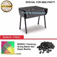 Jual Alat Pemanggang Barbeque Grill Kotak Special Bbq Party Bonus Arang Bakar Kipas Bambu Yvette Di Dki Jakarta