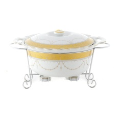 Alat Saji Bulat Vicenza B681 Penghangat Makanan Original Motif Padi