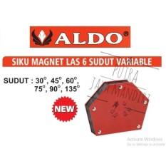 Aldo Variable Angle Magnetic Welding Holder / Siku Magnet 6posisi untuk Las 3inch