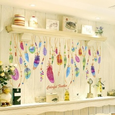 Jual Alevin Feather Wall Sticker Classic Dream Catcher Sofa Art Decal Mural Lucky Dekorasi Kamar Internasional Grosir