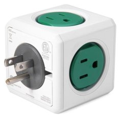 Allocacoc 125 V 15A PowerCube Kreatif Magic Cube Berbentuk Power Socket US Plug 5 ADAPTOR Outlet-1 Buah Hijau -Intl