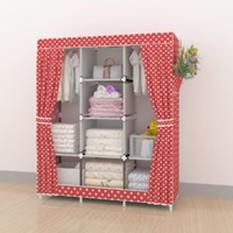 Almari Pakaian Furniture Lemari Baju Lemari Baju Anak Minimalis Lemari Pakaian Anak Murah 028cx Pink Polka 3 Kolom