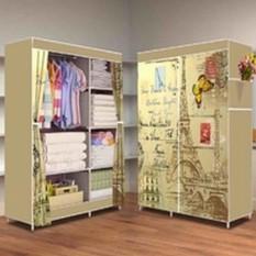 Almari Pakaian Furniture Lemari Baju Lemari Baju Anak Minimalis Lemari Pakaian Anak Murah Effiel Tower 2 Kolom