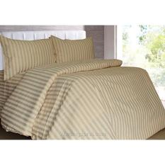 Alona Ellenov garis coklat Bed Cover Set
