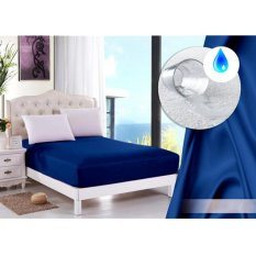 Alona Ellenov Sprei Waterproof Anti Air Warna Biru Tua Promo Beli 1 Gratis 1