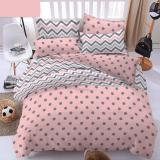 Alona Ellenov Tifanie Circle Pink Sprei Katun Single 120 X 200 X 20Cm Pink Alona Diskon 50