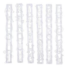 Alphabet Nomor Surat Kue Dekorasi Cetakan Fondant Icing Cutter Cetakan Set (Putih)-Intl
