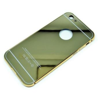Aluminium Bumper With Mirror Back Cover For Iphone 6/6S - Golden ...